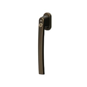 Klamka Alversa z kluczem średni brąz